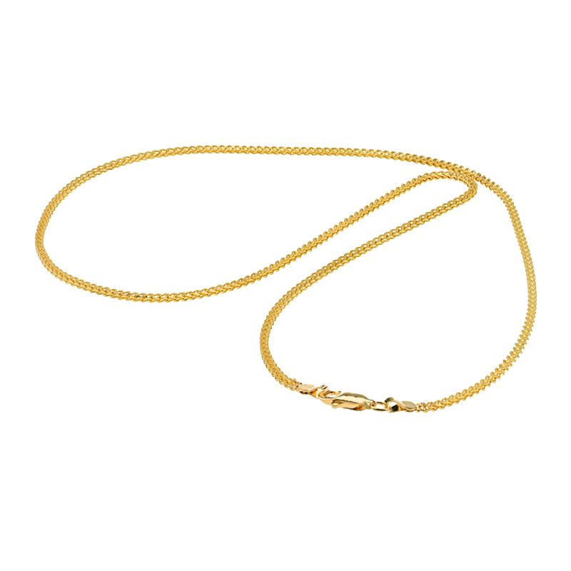 22k Gold Fox Diamond Cut Chain - 22