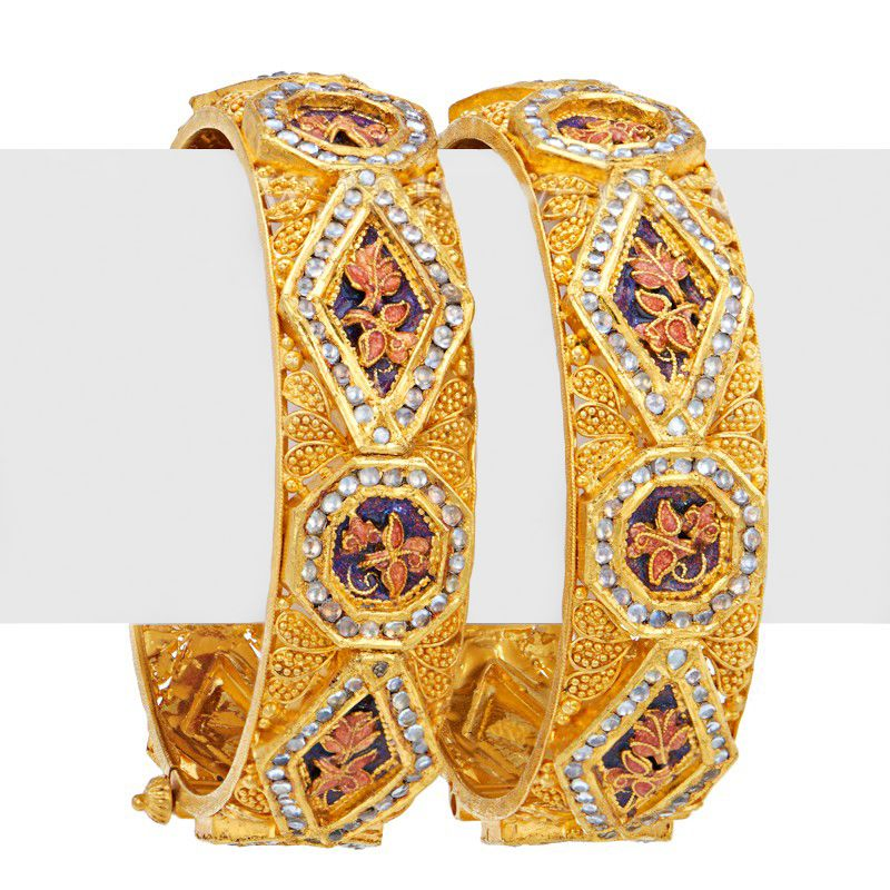 22k Gold Sajal Kada Bangles