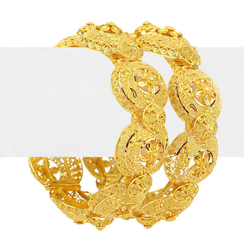 22k Gold Taiba Gold Bangles