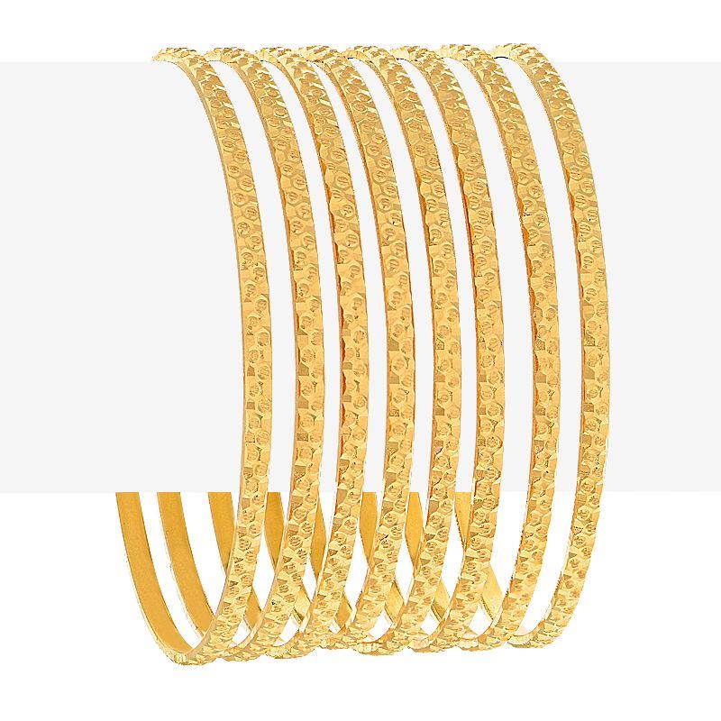 22k Gold Designer Embossed Bangles