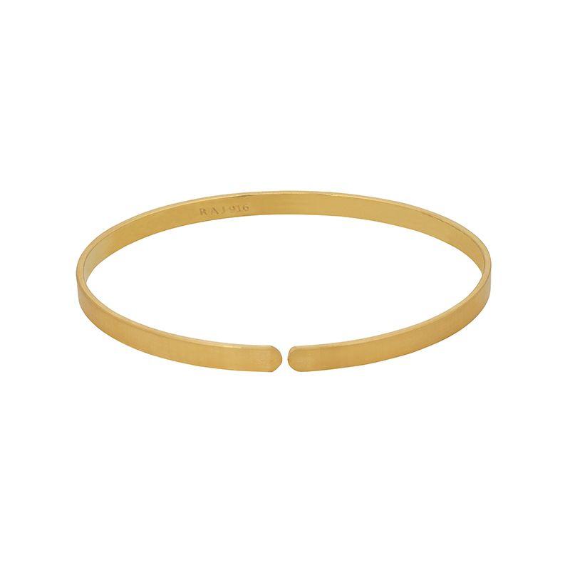 22k Gold Classic Cuff Bracelet- 2.12