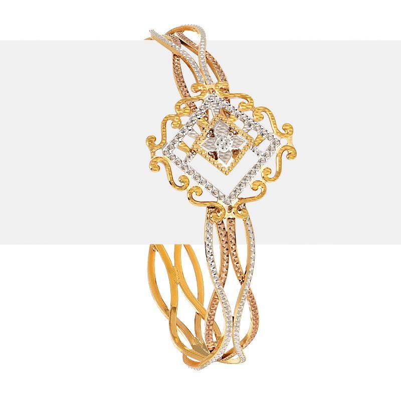 22k Gold Allure Three-Tone Bracelet