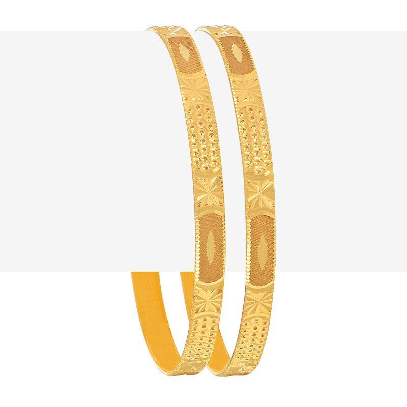 22k Gold Textured Gold Bangles