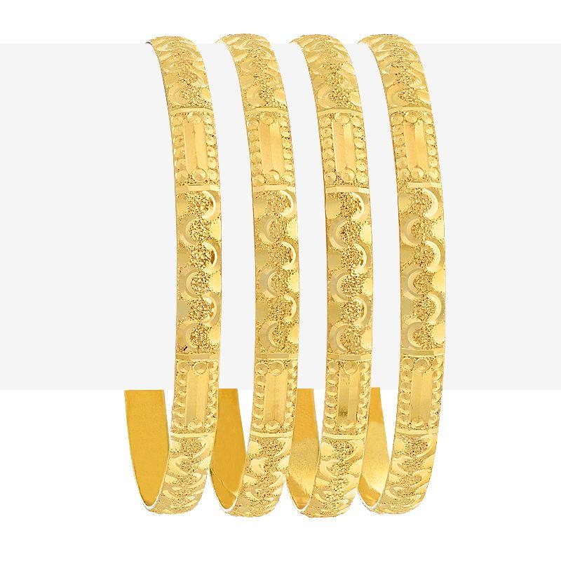 22k Gold Embross Gold Bangles