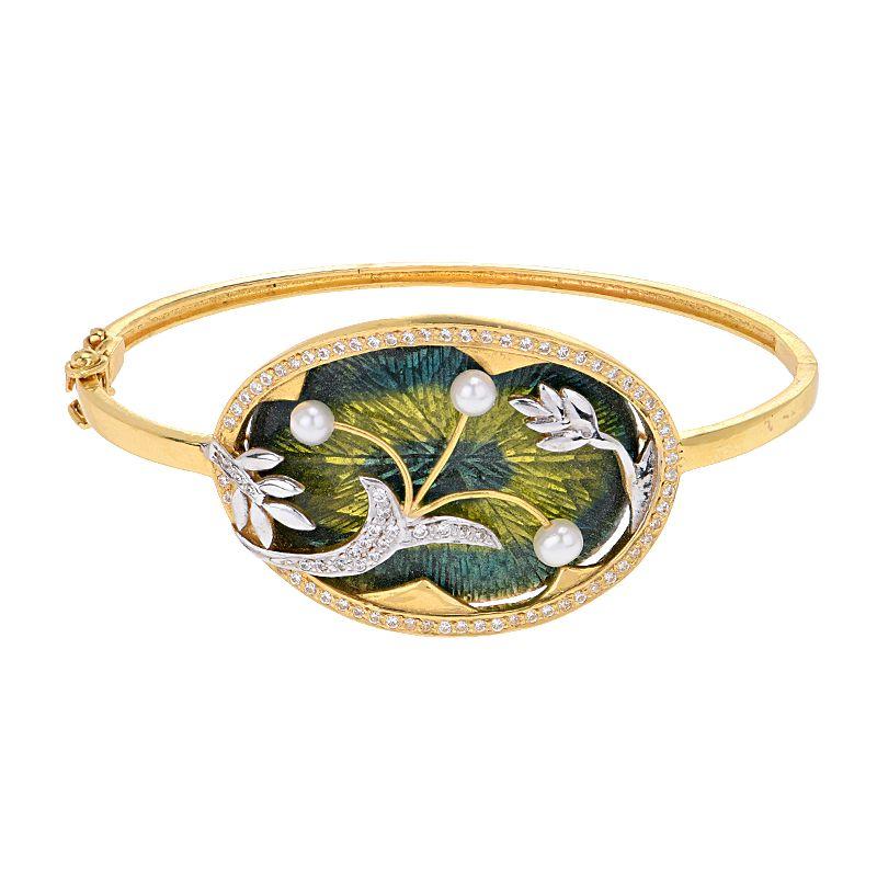 22k Gold 22k CZ Gold Bangle Bracelet