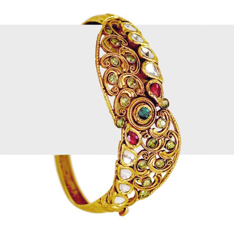 22k Gold Chic Antique Bangle Bracelet