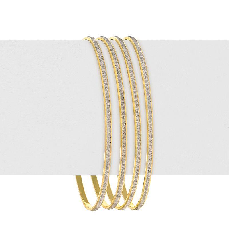 22k Gold Sleek Two-Tone Bangles
