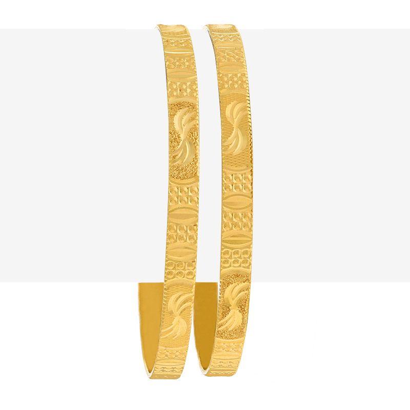 22k Gold Glitzy Designer Gold Bangles
