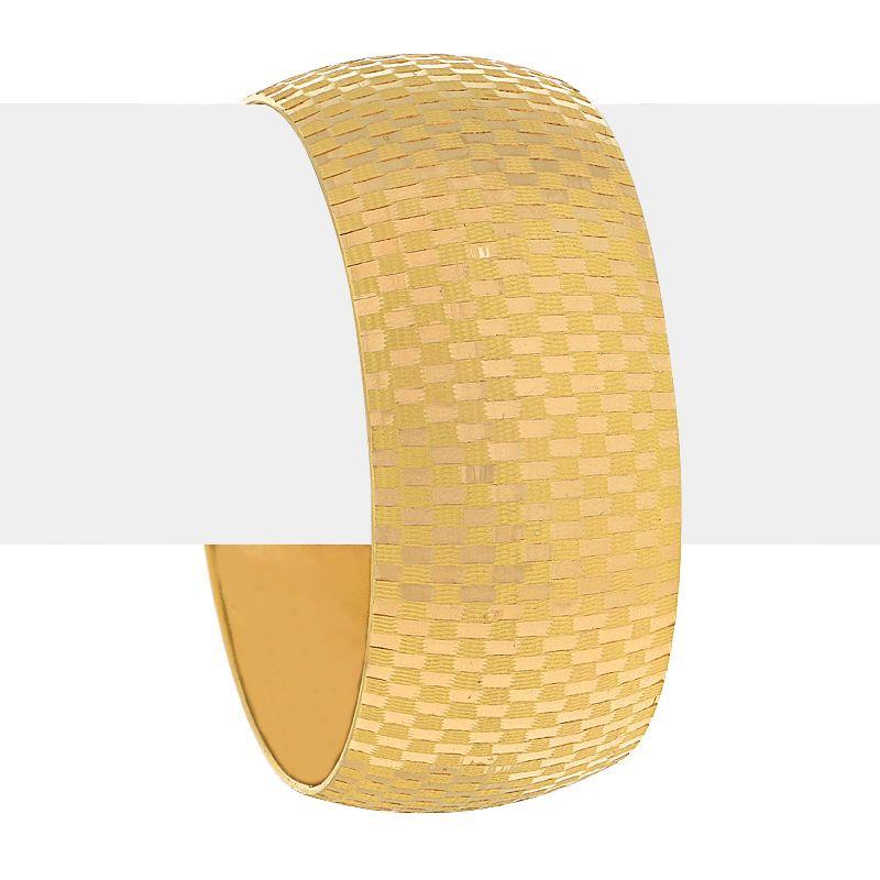 22k Gold Fancy Checkered Gold Bangle