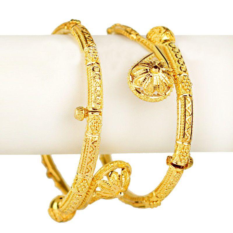 22k Gold Surti Wrap Kadas