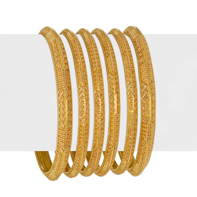22k Gold Ambrosia Gold Bangles