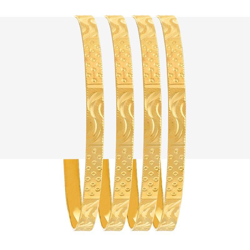 22k Gold Art Deco Gold Bangles