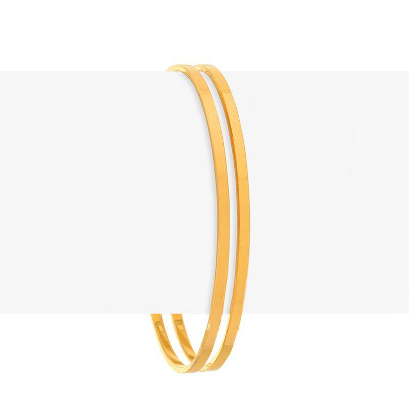 22k Gold Plain Gold Bangles