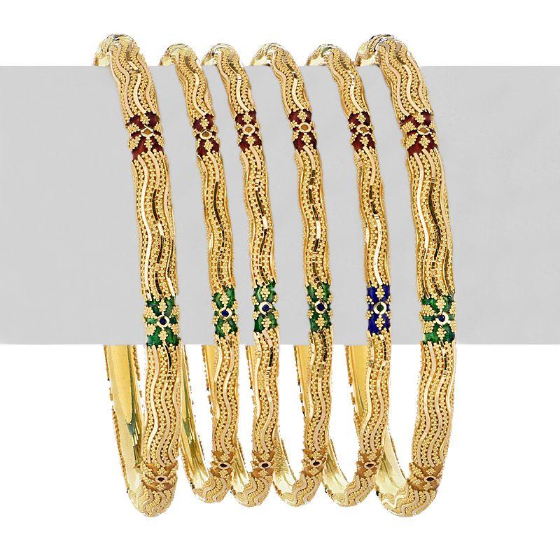 22k Gold Emori Meena Gold Bangles