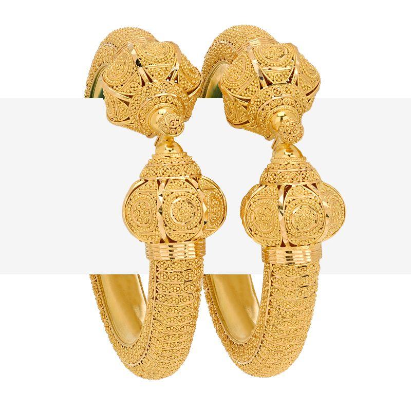 22k Gold Filigree Pipe Gold Kadas