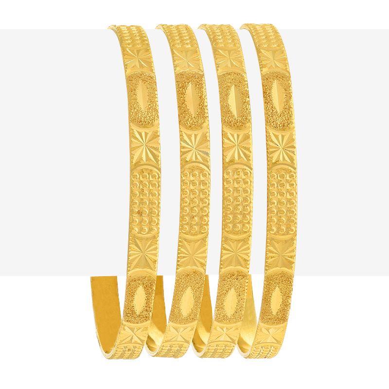 22k Gold Sleek Design Gold Bangles