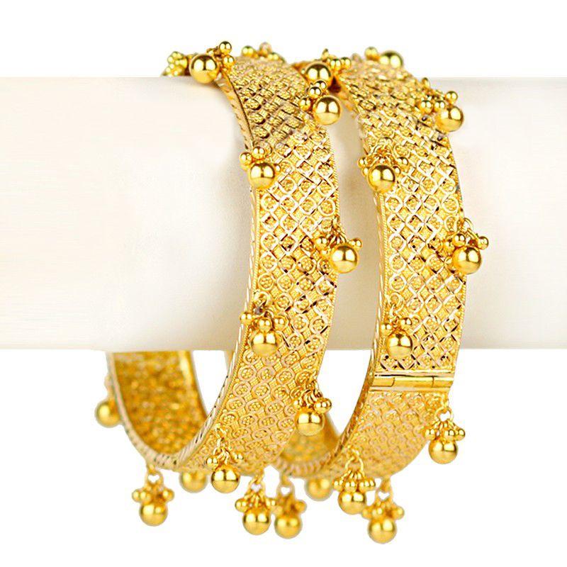 22k Gold Barasti Ghunghru Kadas