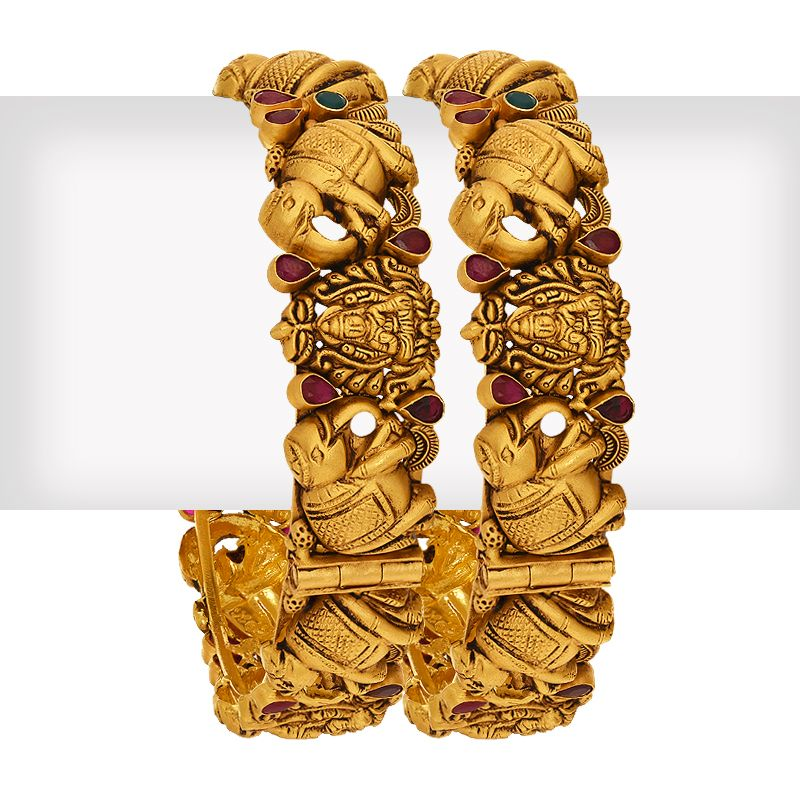 22k Gold Goddess Lakshmi Elephant Kadas
