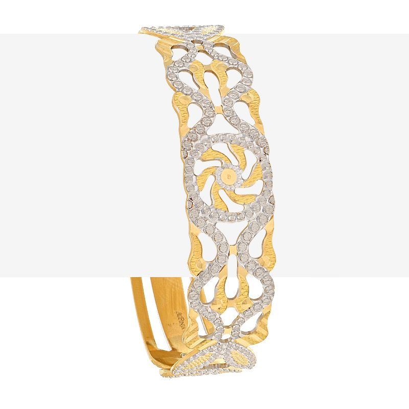 22k Gold Swirls Cut-out Bangle