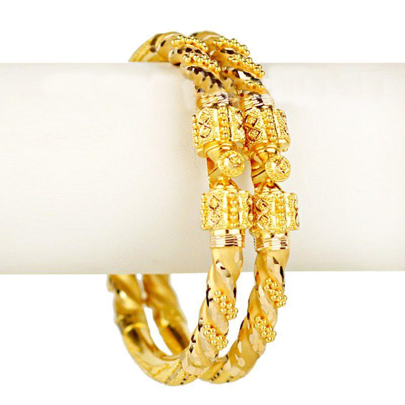 22k Gold Tazia Gold Bangles