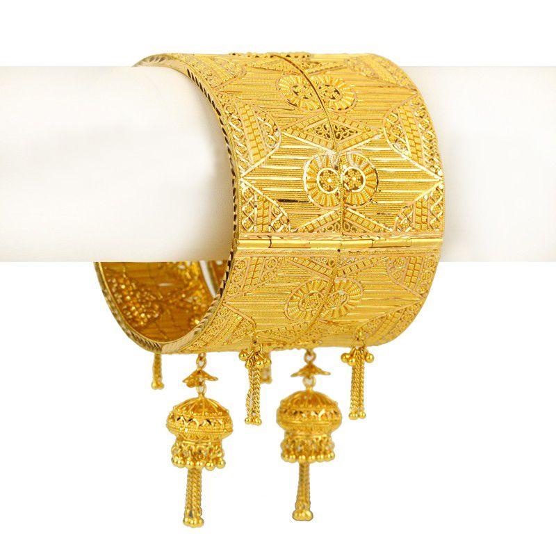 22k Gold Ahaana Gold Bangles