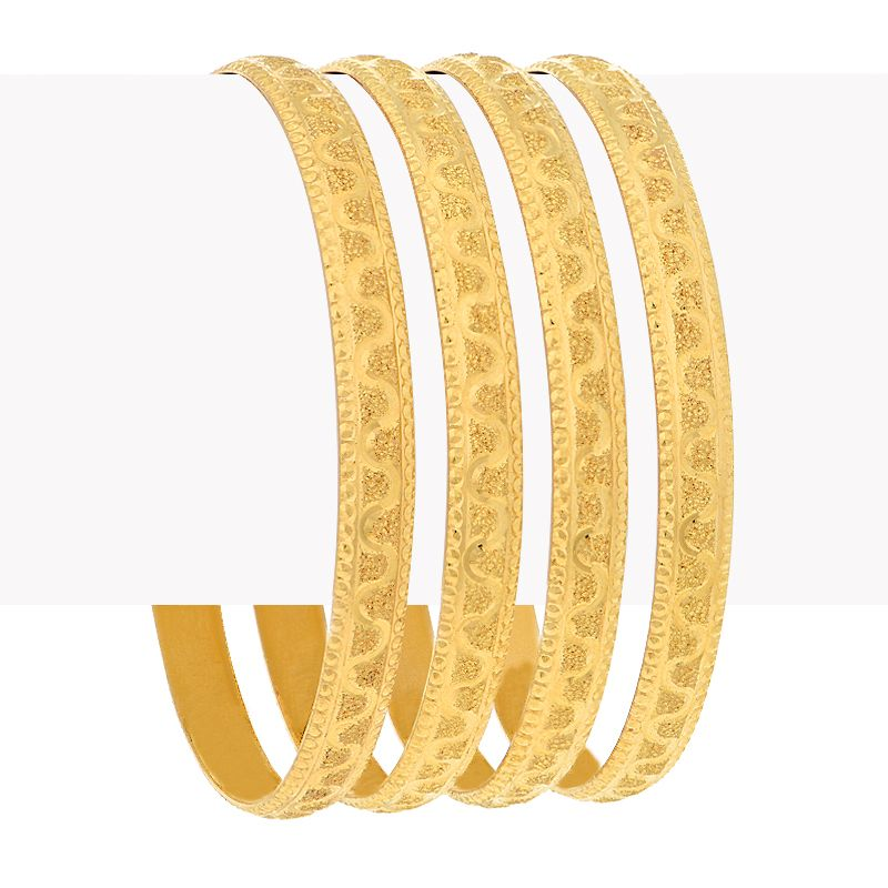 22k Gold Glitzy Gold Baby Bangles