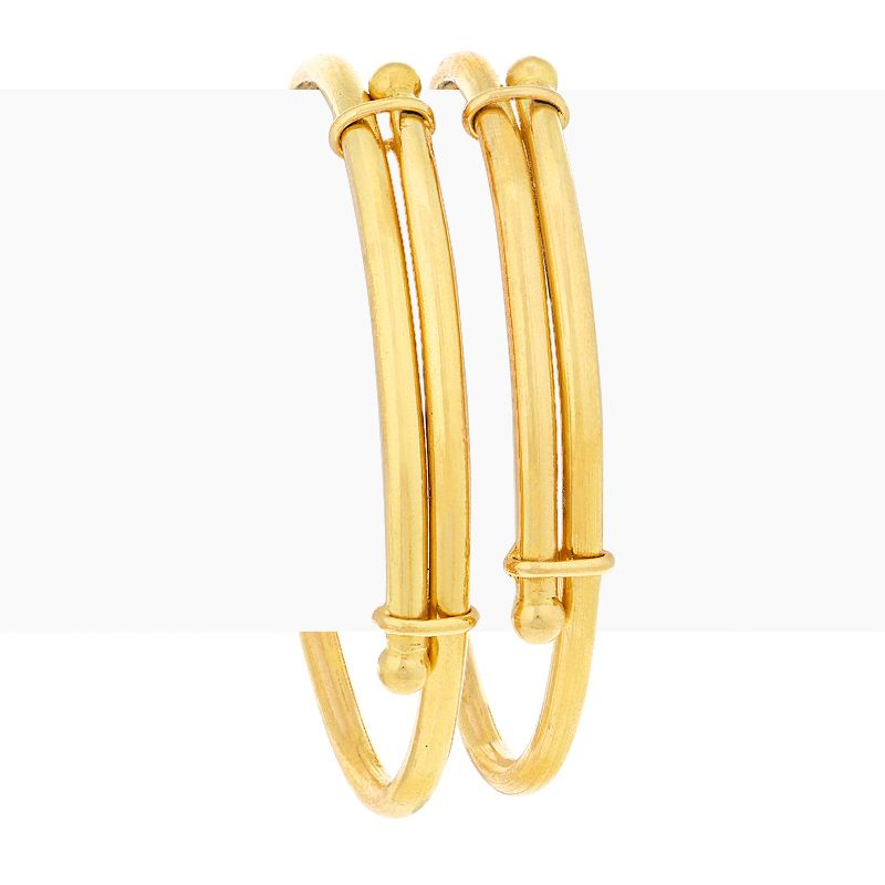 22k Gold Classic Adjustable Baby Bangles