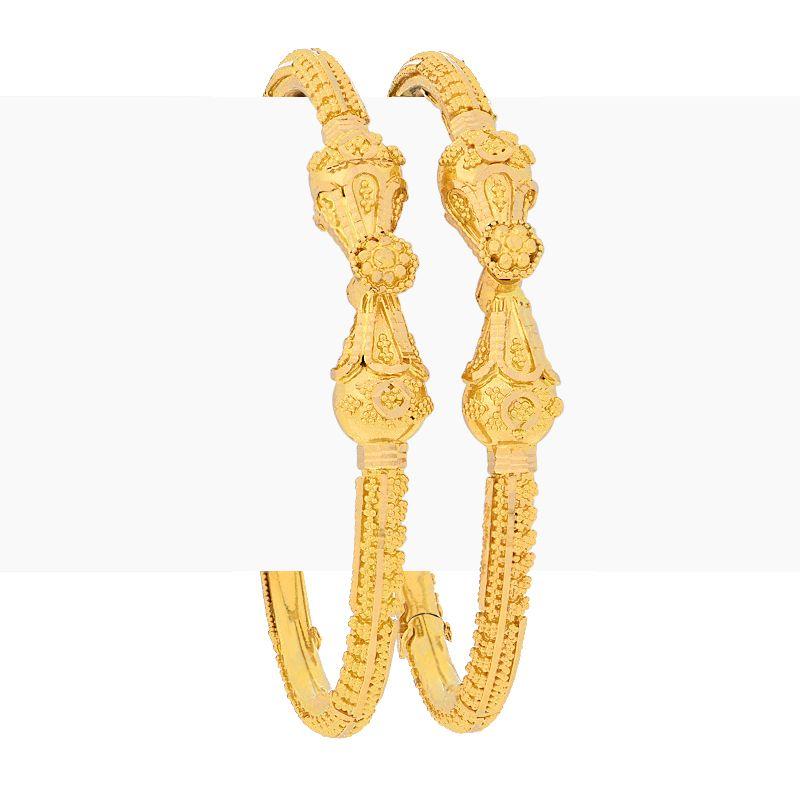 22k Gold Filigree Gold Baby Bangles