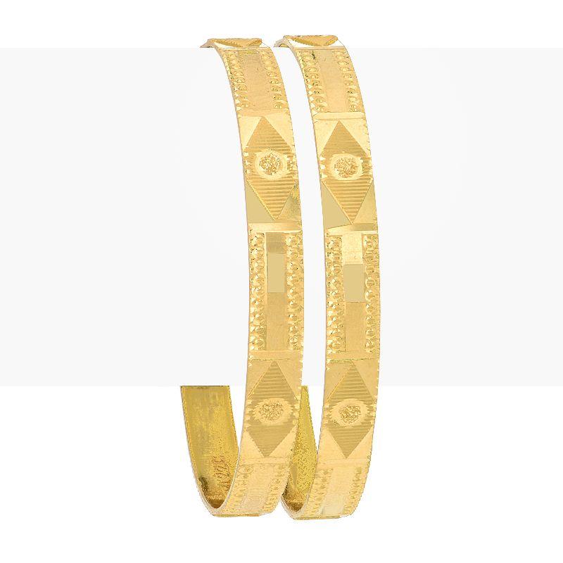 22k Gold Art Deco Baby Bangles