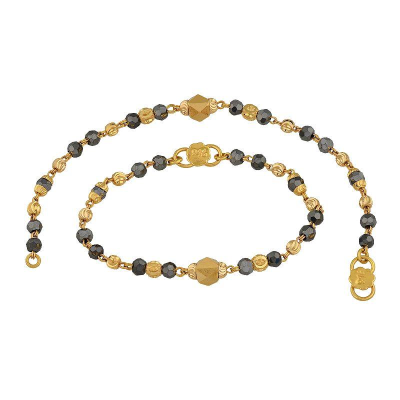 22k Gold Crystal Beads Infant Bracelets