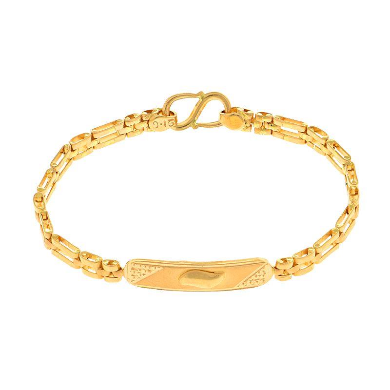 22k Gold ID Links Baby Bracelet
