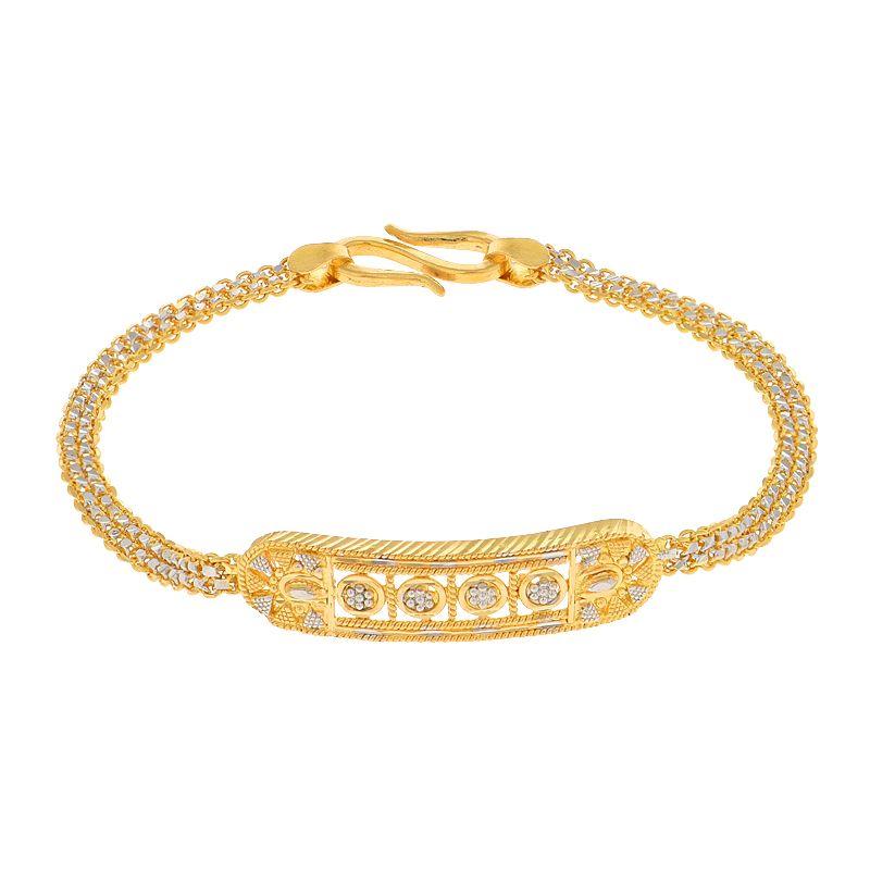 22k Gold Fancy ID Baby Bracelet