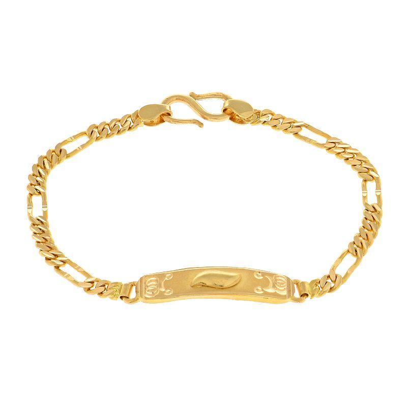 22k Gold ID Baby Chain Bracelet