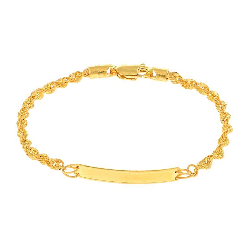 22k Gold Id Bar Baby Bracelet
