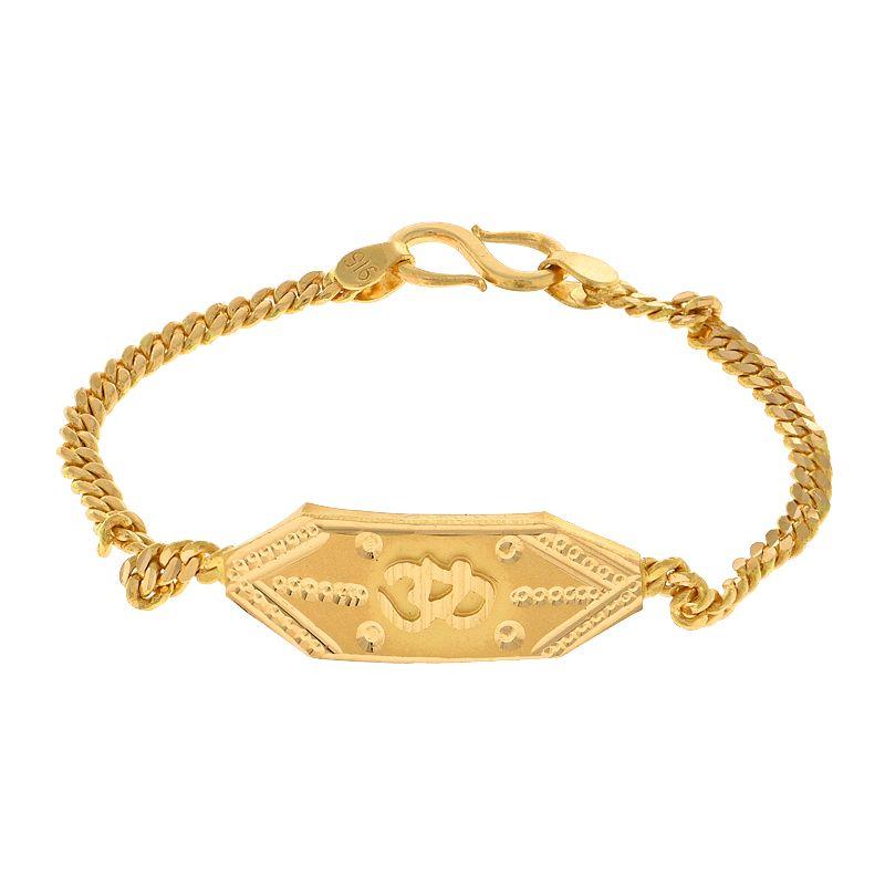 22k Gold Om Baby Bracelet