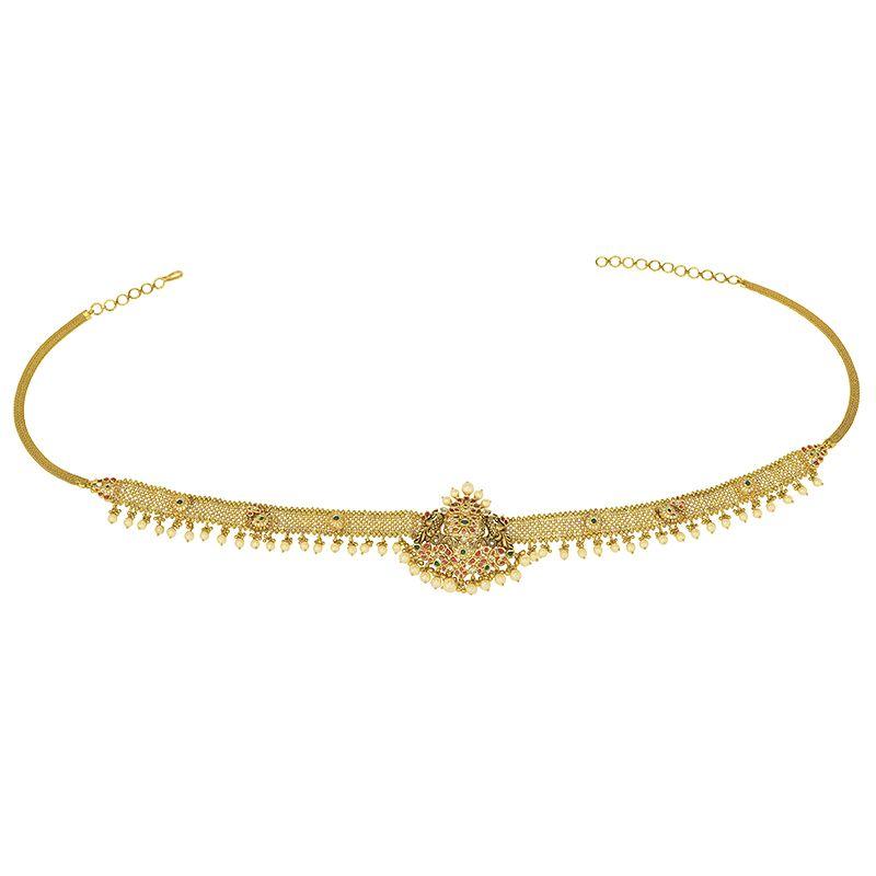22k Gold Antique Nakshi Peacock Vaddanam