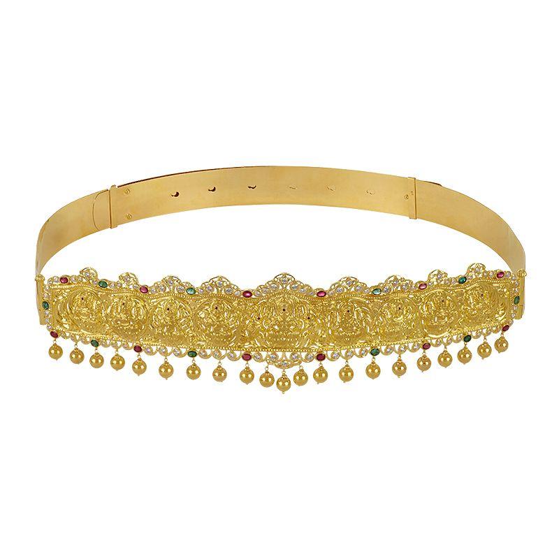 22k Gold AshtaLakshmi Gems Vaddanam