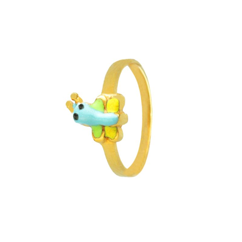 22k Gold Butterfly Baby Ring