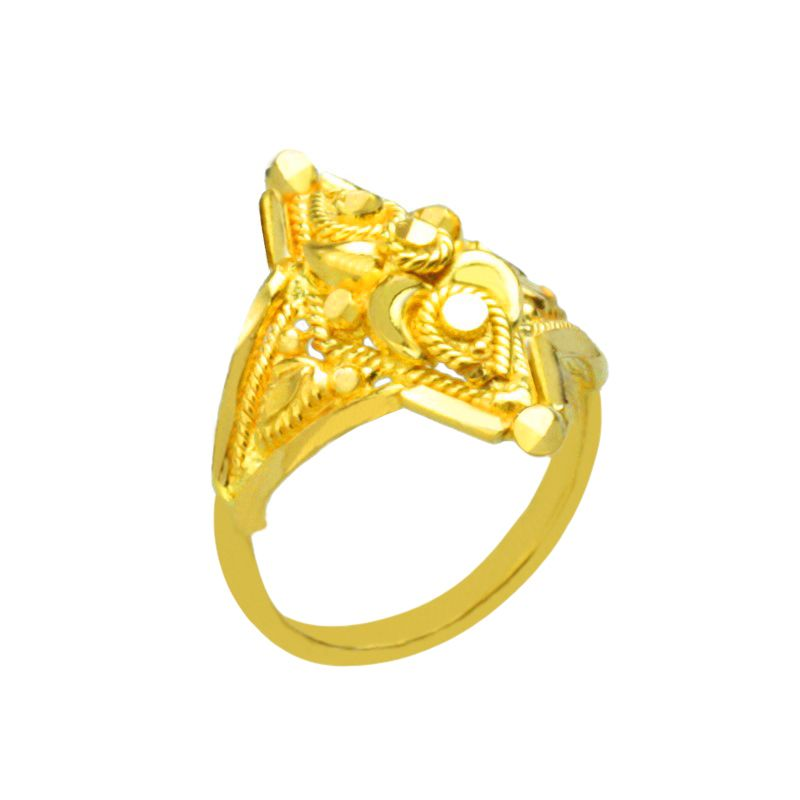 22k Gold Unusual Design Baby Ring