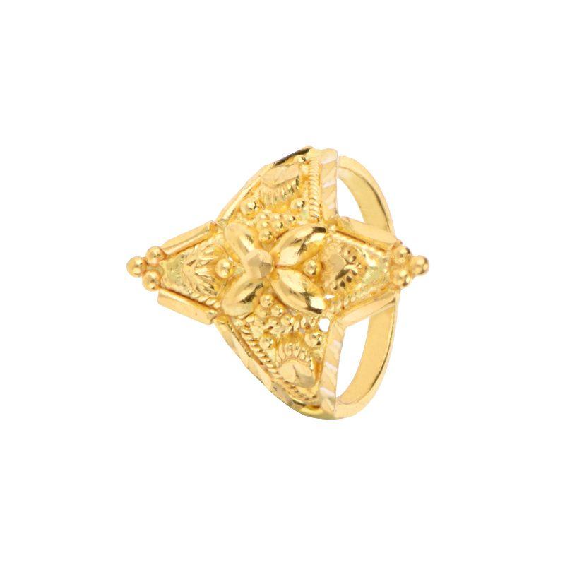 22k Gold Geometrical Design Gold Ring
