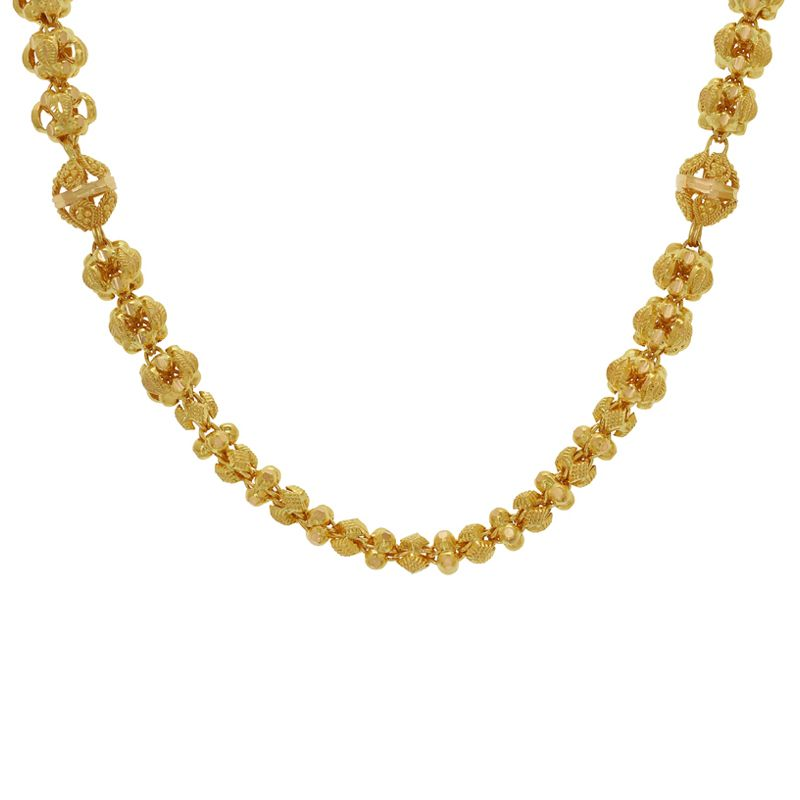 22k Gold Flore Filigree Bead Chain