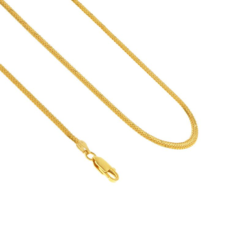 22k Gold Venetian Square Taso Chain - 30