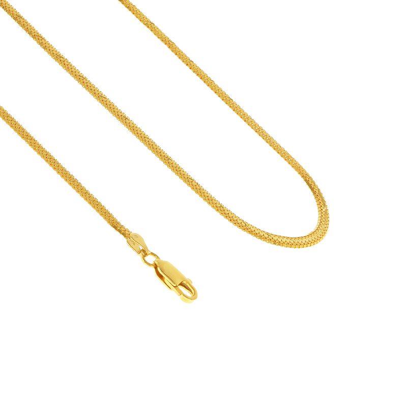 22k Gold Venetian Square Taso Chain - 28