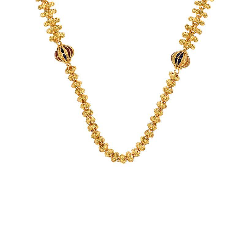 22k Gold Meenakari Ball Gold Chain