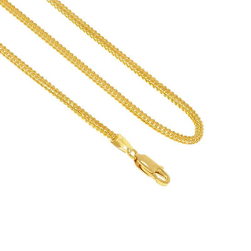 22k Gold Singapore Round Gold Chain - 24
