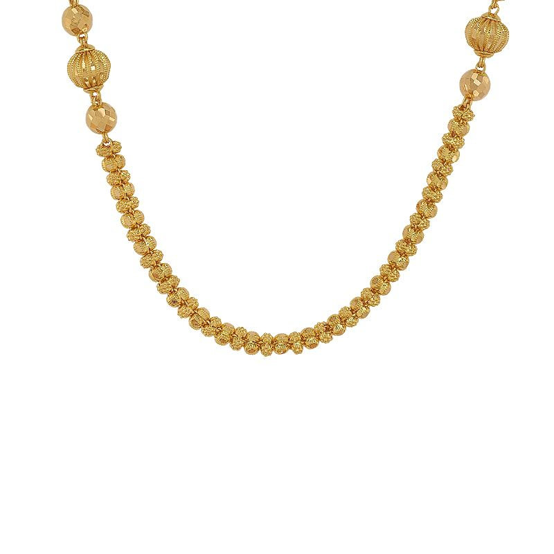 22k Gold Fancy Filigree Beads Chain