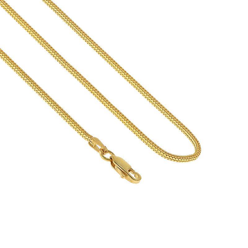 22k Gold Venetian Square Chain - 20