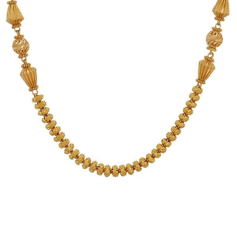 22k Gold Gravia Beads Ball Chain
