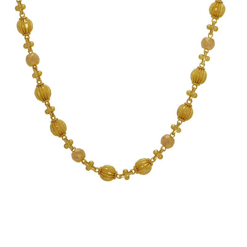 22k Gold Designer Fancy Balls Chain