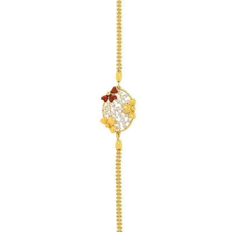 22k Gold CZ Bow Mugappu Chain